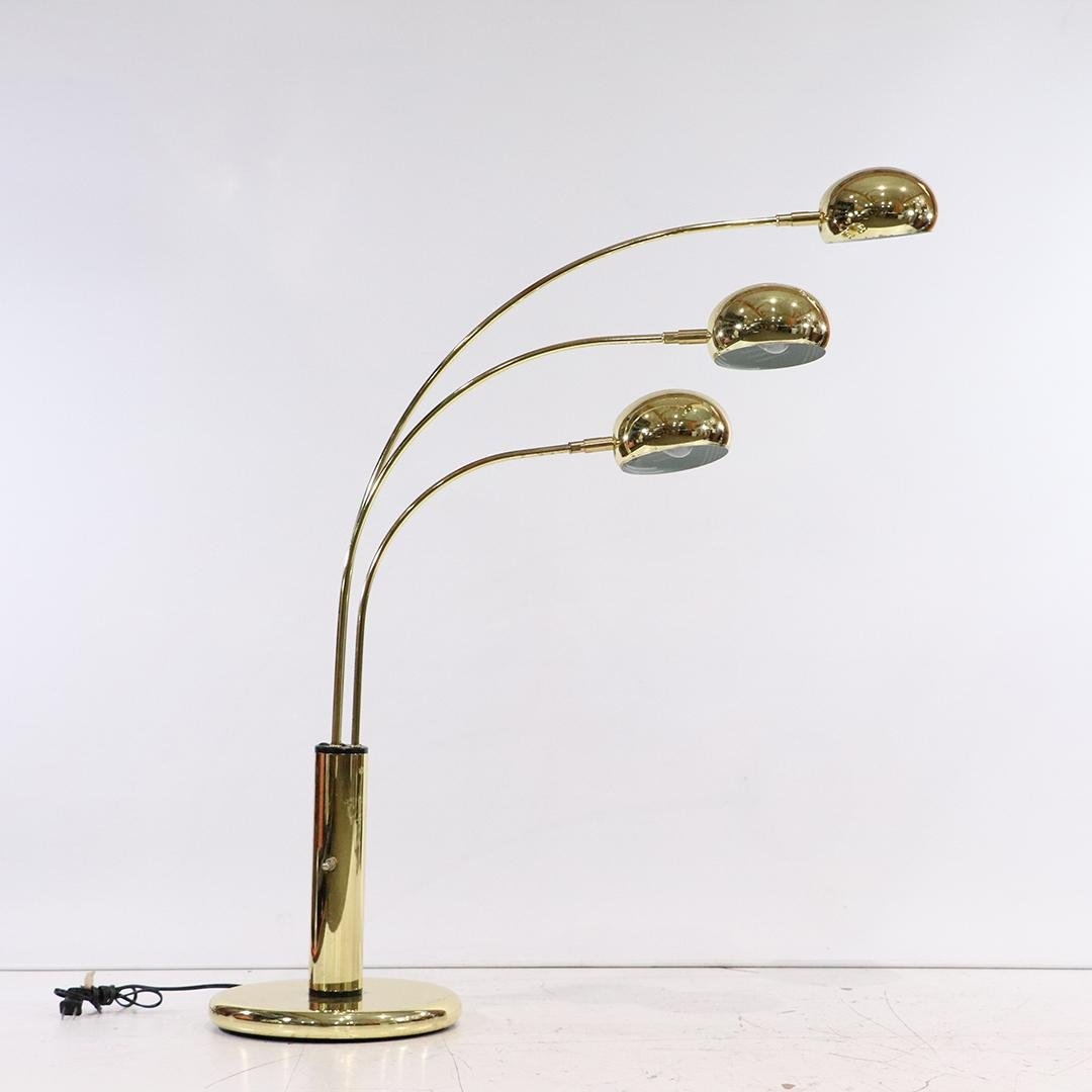 Mid-Century Modern Design Table Top Arc Lamp 3 Arms