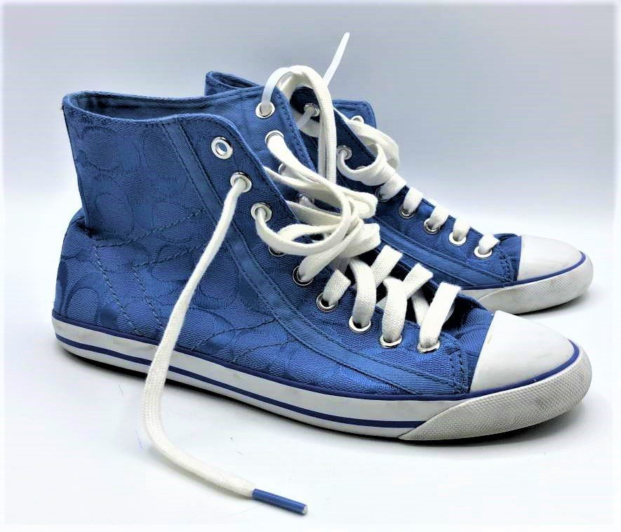COACH Blue High Top Sneakers Size 7 1/2 - Clean