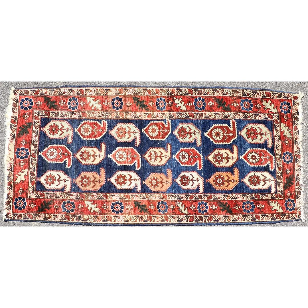 Antique Persian Hand Made Oriental Scatter Rug Wool