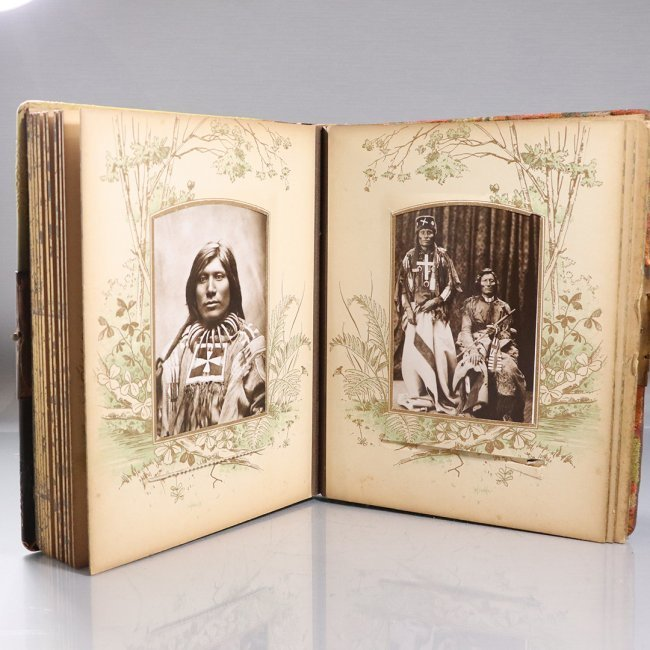 Victorian Photo Albums Pages of Indian Print Pictures