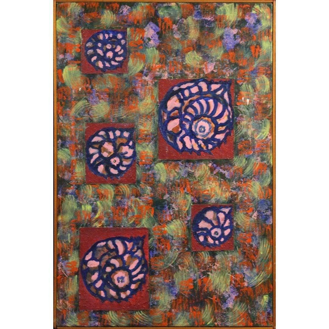 Alexa Santos, Oil/c Nautical Shells in Abstract