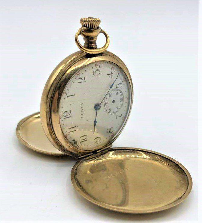 14 K Gold ELGIN Hunting Case Pocket Watch