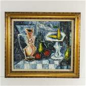 Mid Century Modern Still Life Oil Painting on Canvas