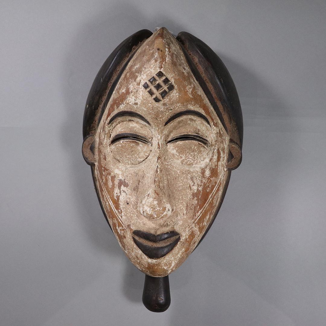 Hand Carved Wooden African Ceremonial Mask Vintage