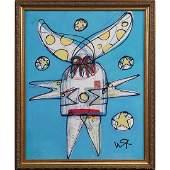 Wayne Cunningham American Modernism Abstract Figure