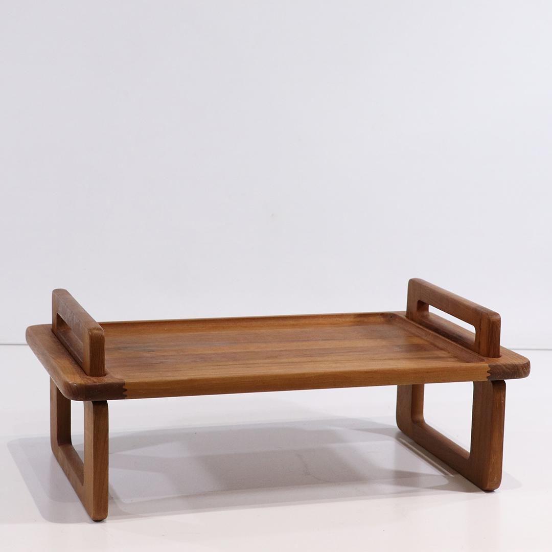Mid-Century Danish Design Teak Wood Breakfast Tray