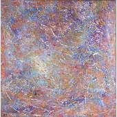 Roberto Fernandez 20th C Modern Drip Art Oil Painting