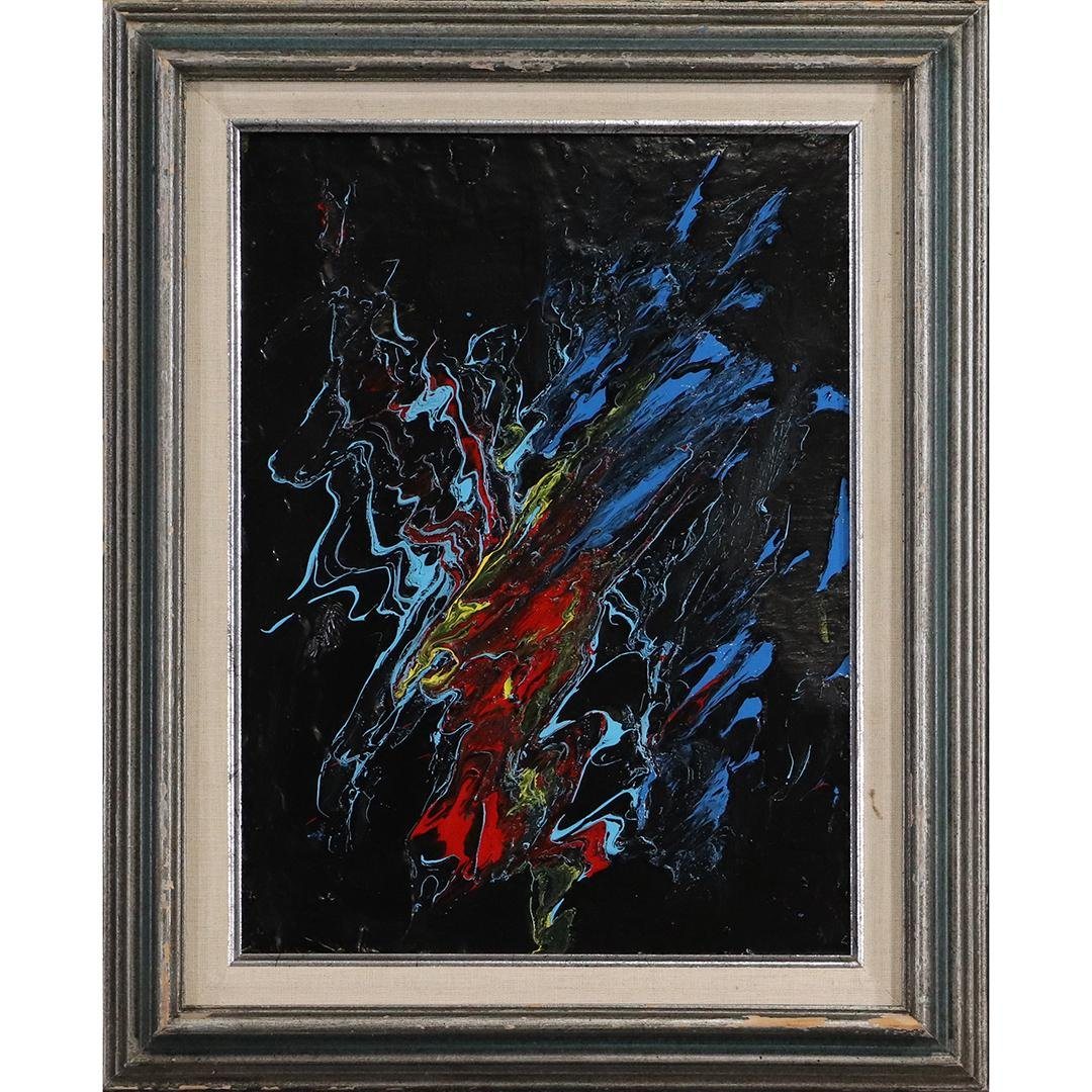 Pulgini, Mid-Century Modern Abstract Expressionism O/b