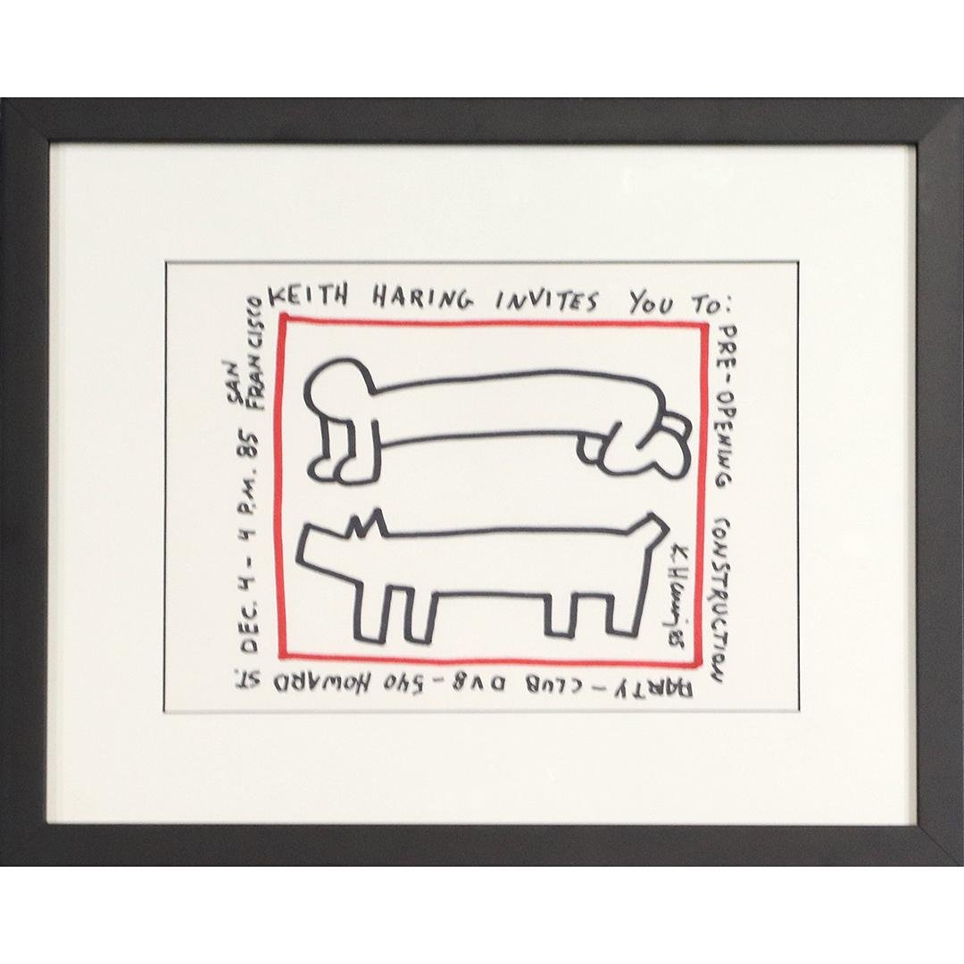 Keith Haring(after); Contemporary Drawing Signed