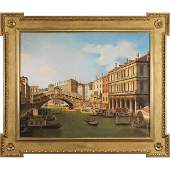 after Canaletto, Fine 20th C. Painting A View of Venice
