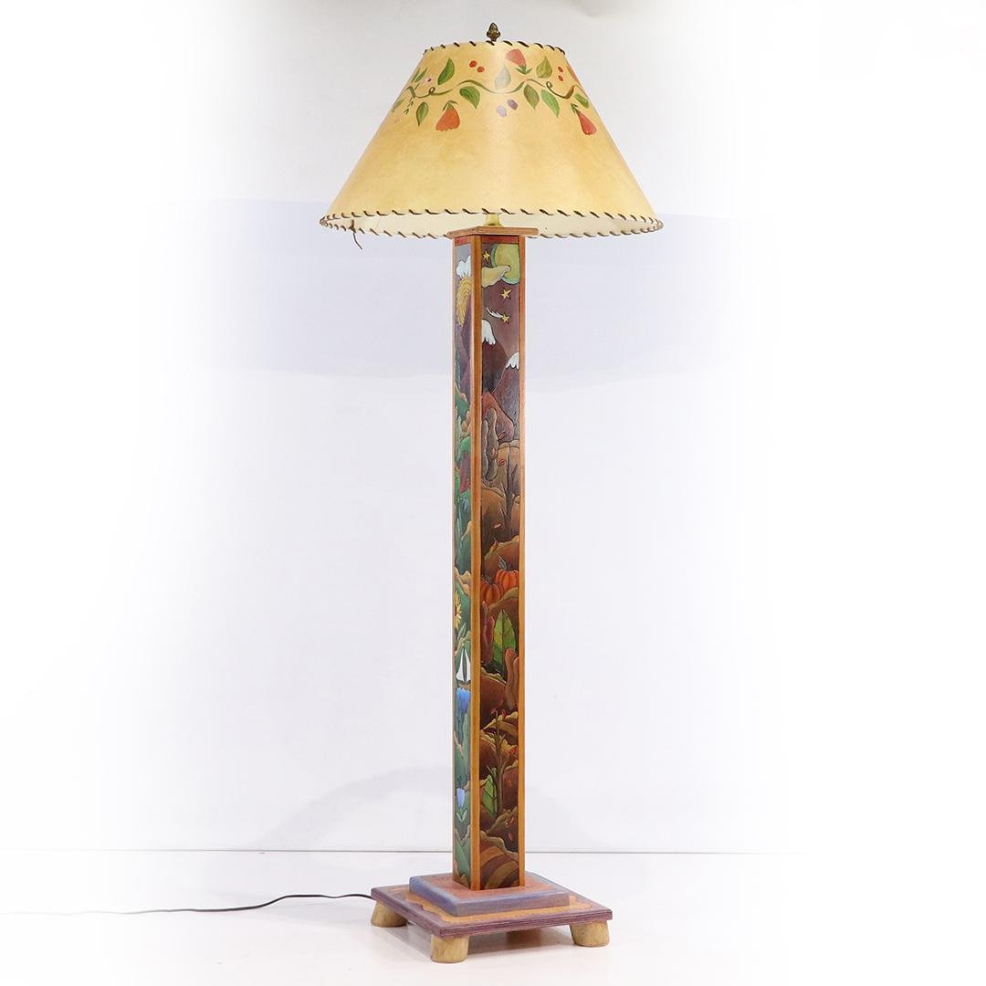 Contemporary Arts & Crafts Four Seasons Floor Lamp