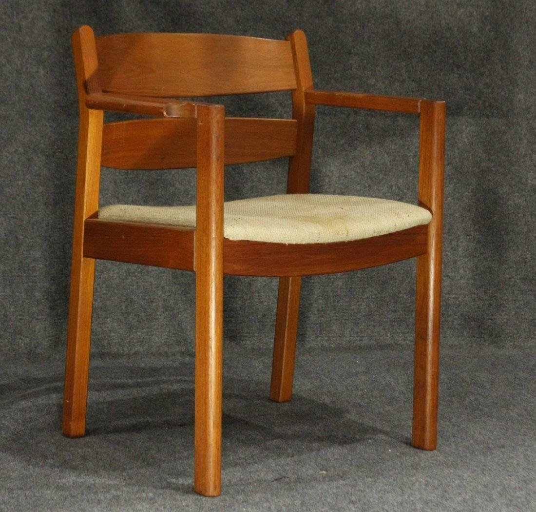 MOBLER DENMARK Teak Wood Danish Modern Arm Chair
