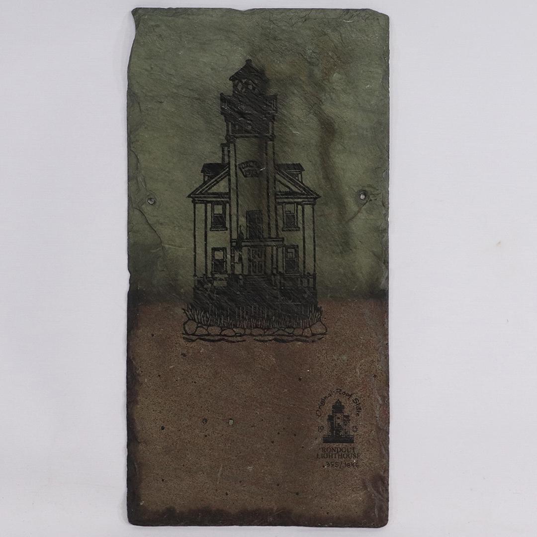 Rondout Lighthouse [New York] Hanging Slate Tile