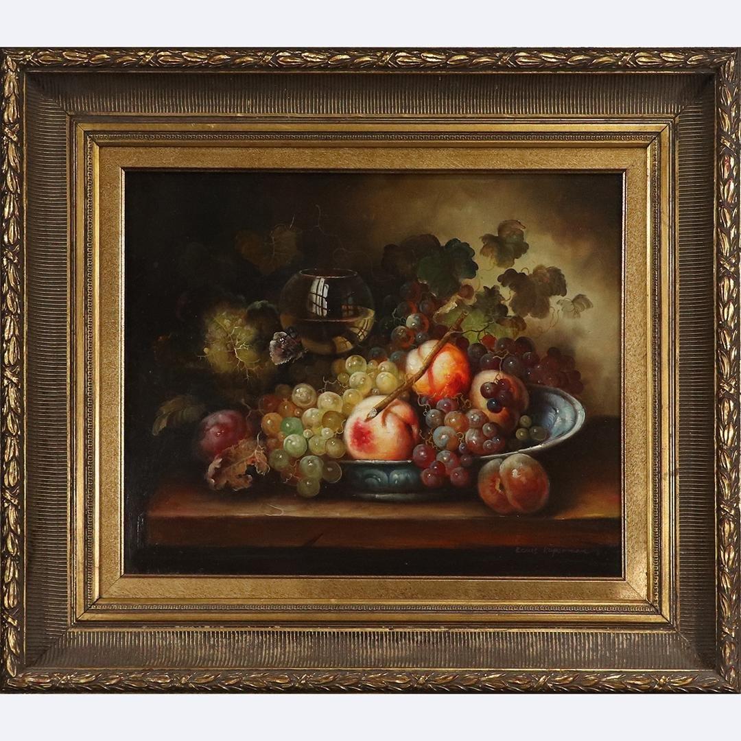 Louis Kuperman, Fine 20th C. Still Life Floral Painting