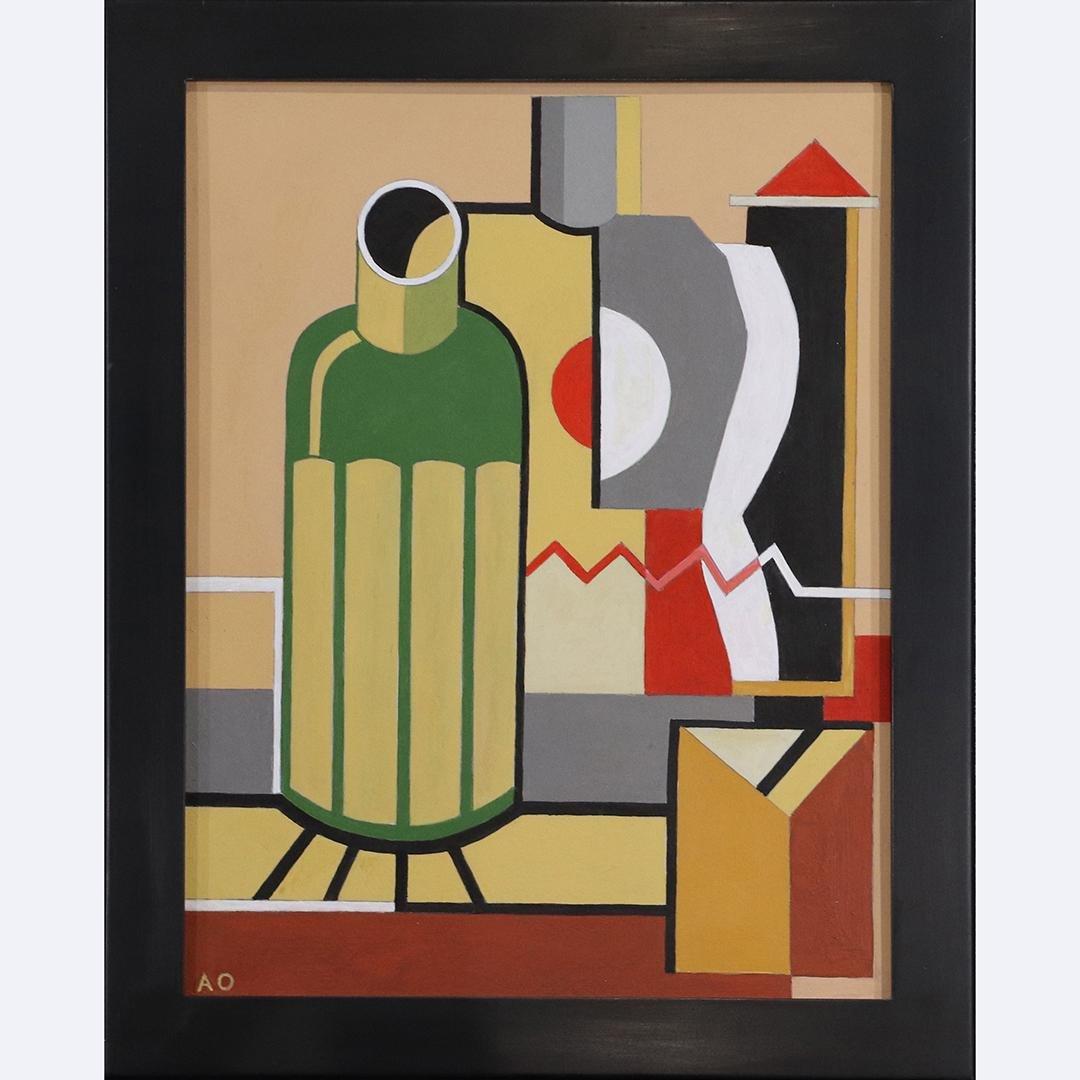 After Amedee Ozenfant, Oil/b, Cubistic Still Life