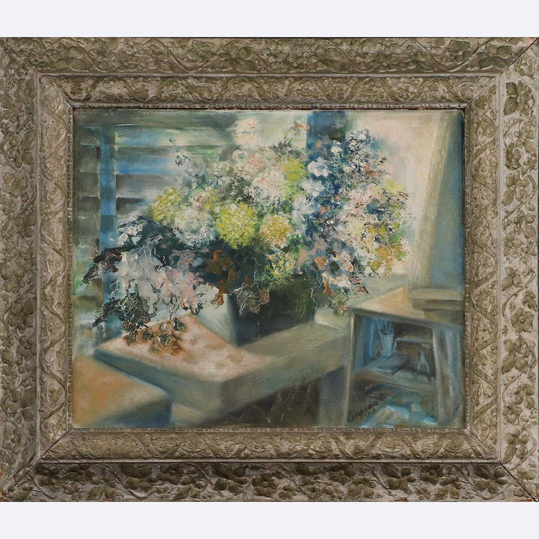 Eisgrau 1953, Quality Interior Table Top Still Life O/b