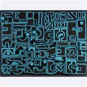 Kim Engels, Berkshires Artist, Blue Black Sculpture Art