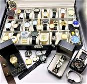 38 Assorted Wristwatches  New  Old  Vintage