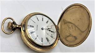 14 K Gold Filled WALTHAM Hunting Case Pocket Watch