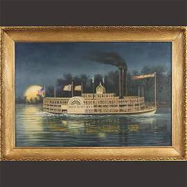 "Nemethy [Albert], Oil/b ""Queen Of The West"" River Boat"