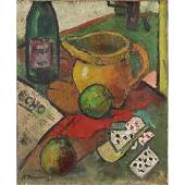 A. Derain; French Oil Still Life Signed and Dated '44