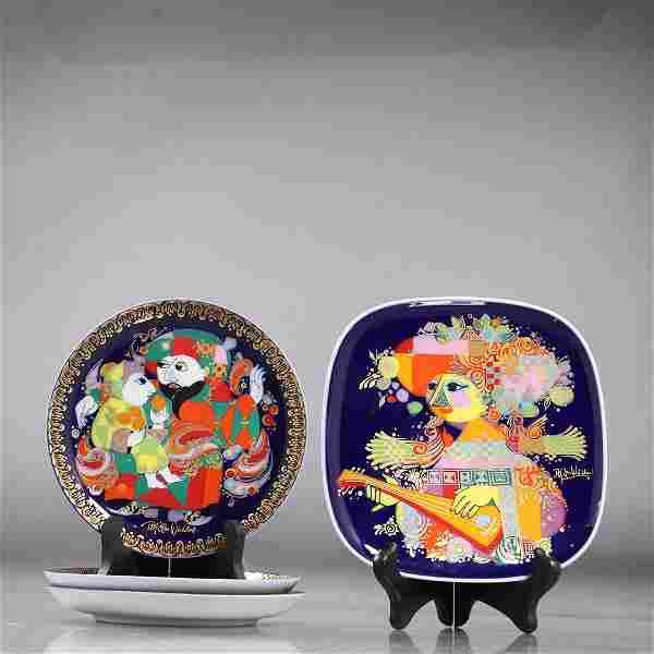 4 pieces Bjorn Wiinblad Rosenthal Collector's Plates