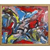 Pulgini after De Kooning Oil/b Abstract Expressionism