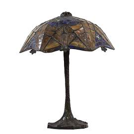 Scott Riggs after Tiffany Studios LEADED GLASS BAT LAMP