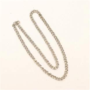 .925 Sterling Silver Mens Cuban Chain Link Necklace