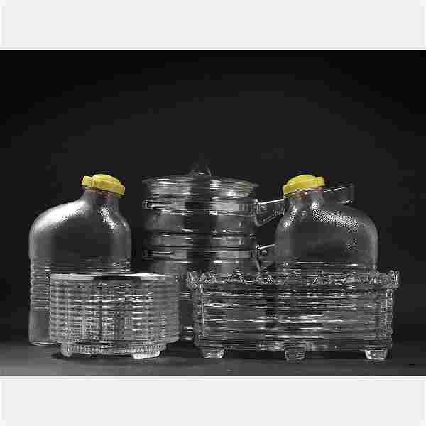 Group Lot Mid-Century Modern Glass Kitchen Items