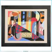 Jean Lambert-Rucki 1921; Gouache, Figures Mod Abstract