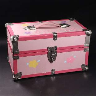 Toy Doll's Trunk Full of Barbie Doll Clothing