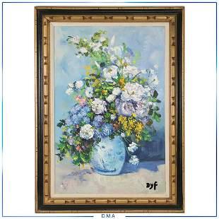 DYF, attributed to Marcel Dyf, Oil/c Floral Still Life