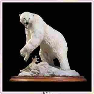Polar Bear Fine Porcelain Figure, The Franklin Mint