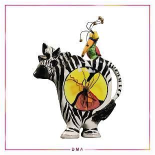 SWAK Clock, Lynda Corneille, Dahlia the Zebra / Jaden