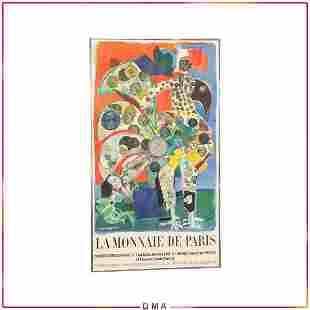 Roger Bezombes La Mannaie De Paris 1972 Exhibit Poster