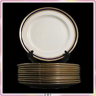 LENOX for TIFFANY & CO Gold and Cobalt Rim Plates