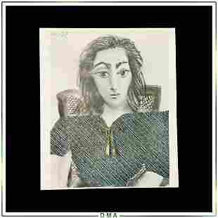 Picasso Vintage Lithograph The Jacquelines Vauvenargues