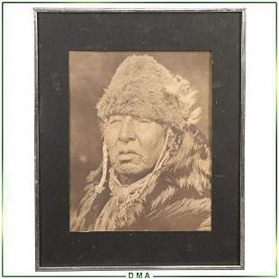 Curtis Print - Native American Portrait, Framed