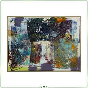 Quality Mid-Century Modern Abstract Oil Painting
