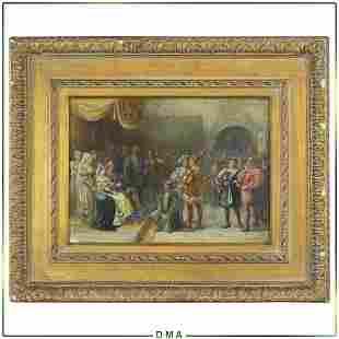 Florence E Maplestone, 19th C. W/c  Knights Gathering