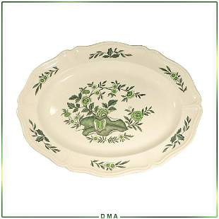 Green Leaf Wedgwood Oval Porcelain Platter