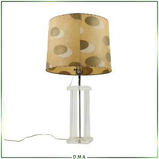 Mid-Century Modern Lucite Table Lamp w/ Original Shade