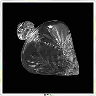 Waterford Crystal Cut Glass Tear Drop Side End Decanter