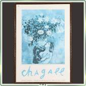 Marc Chagall Exhibition poster Signed in Plate, Framed
