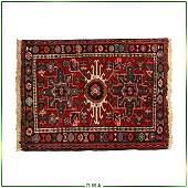 Antique Persian Heriz Hand Made Wool Scatter Rug