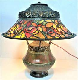 "TIFFANY STUDIOS NEW YORK ""Woodbine"" Moorish Lamp"