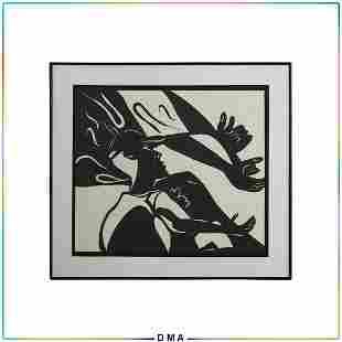 Matt Kremers, Black & White Silhouette Figure Cut Out