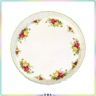"Royal Albert Fine China ""Old Country Roses"" Round Tray"