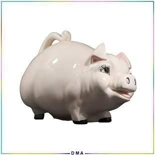 Whimsical Ceramic Piggy Bank 16 in. length